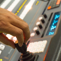 For demanding live production environments, we use this Broadcast Panel that featuring the highest quality buttons, knobs and faders for even faster switching!