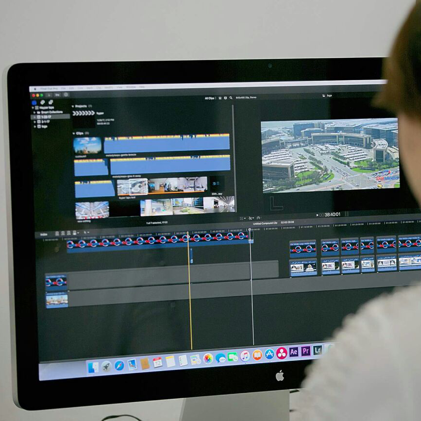 Edit Section consist of 04 edit suites, to provide a professional post production, color correction, subtitling, after efforts and more.